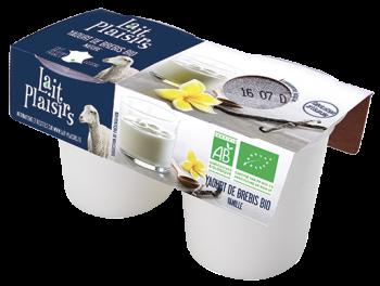 Lait Plaisirs - Yaourts BIO au lait entier de brebis vanille
